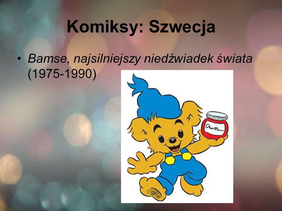 Komiksy: Szwecja Bamse, najsilniejszy niedźwiadek świata (1975-1990)