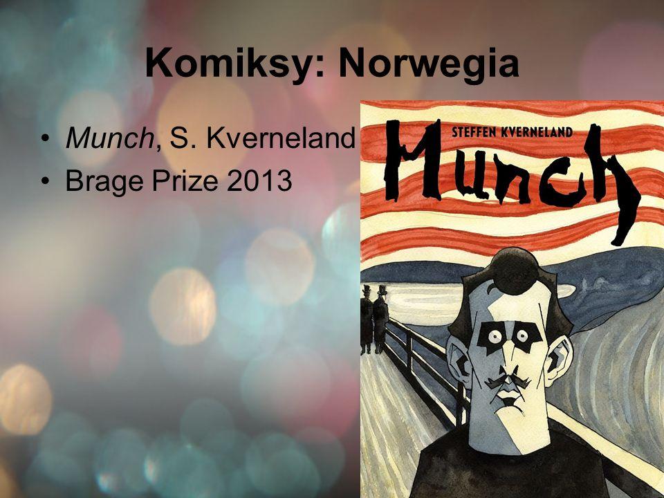 Komiksy: Norwegia Munch, S. Kverneland Brage Prize 2013