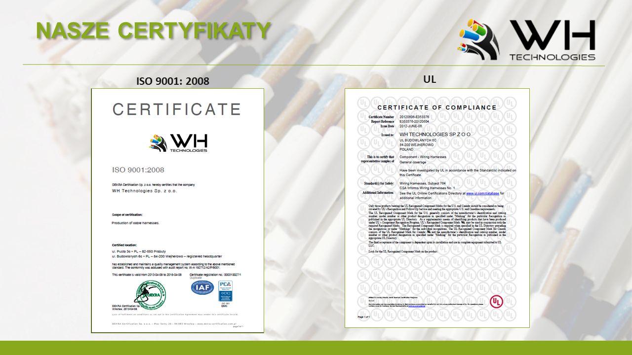 NASZE CERTYFIKATY UL ISO 9001: 2008