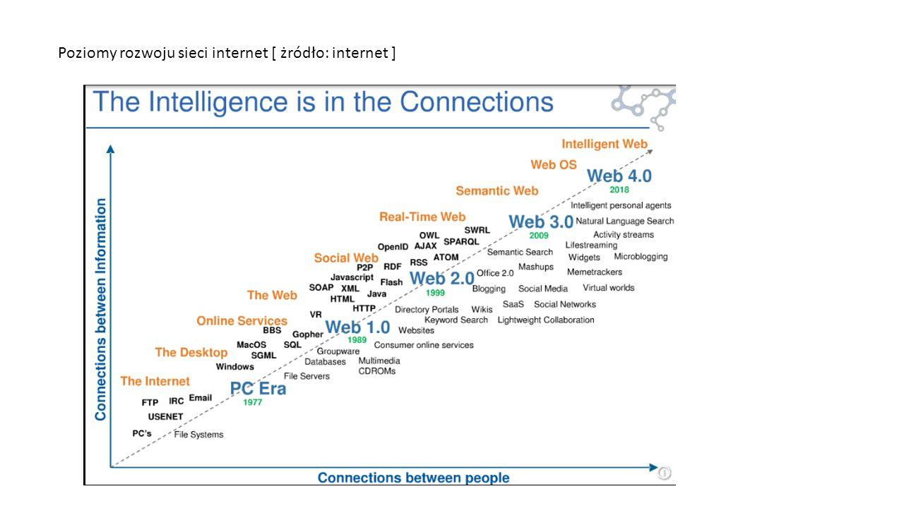 Poziomy rozwoju sieci internet [ żródło: internet ]
