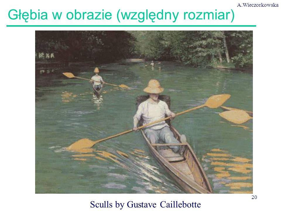 A.Wieczorkowska 20 Głębia w obrazie (względny rozmiar) Sculls by Gustave Caillebotte