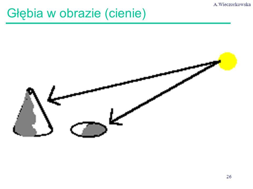 A.Wieczorkowska 26 Głębia w obrazie (cienie)