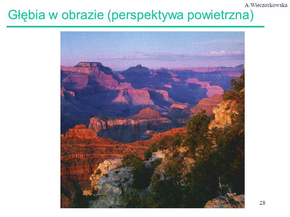 A.Wieczorkowska 28 Głębia w obrazie (perspektywa powietrzna)