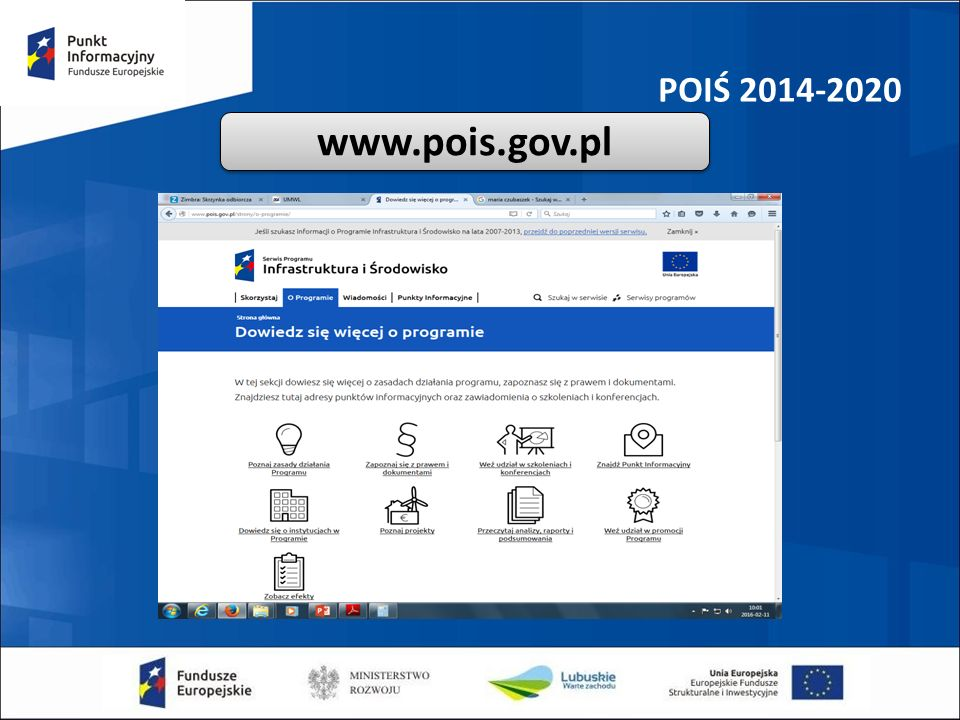 POIŚ 2014-2020 www.pois.gov.pl