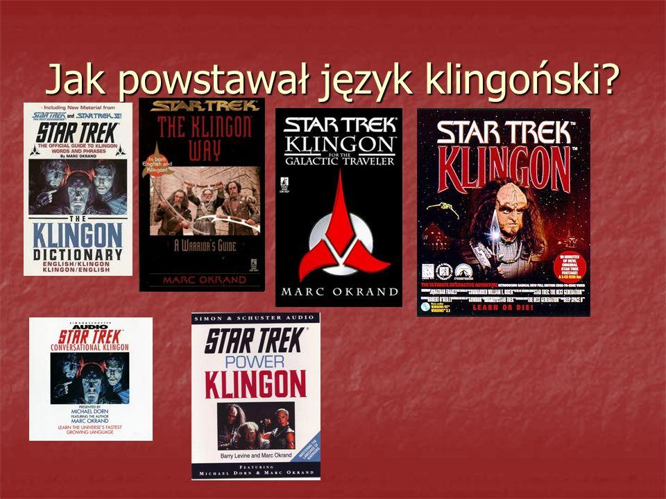 Jak powstawał język klingoński?