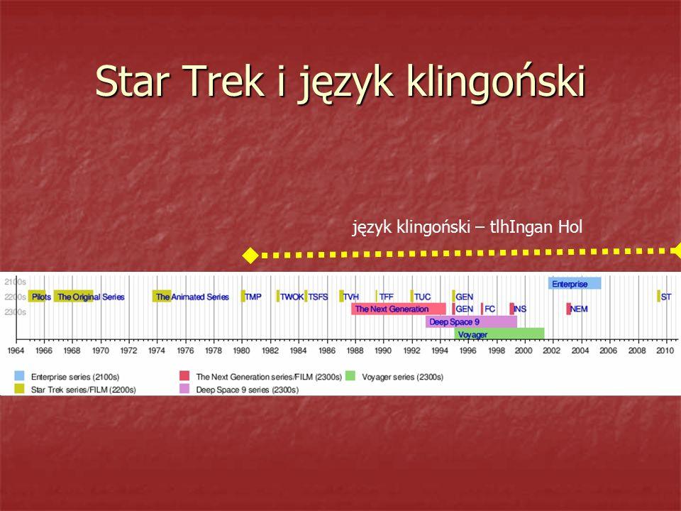 Star Trek i język klingoński język klingoński – tlhIngan Hol