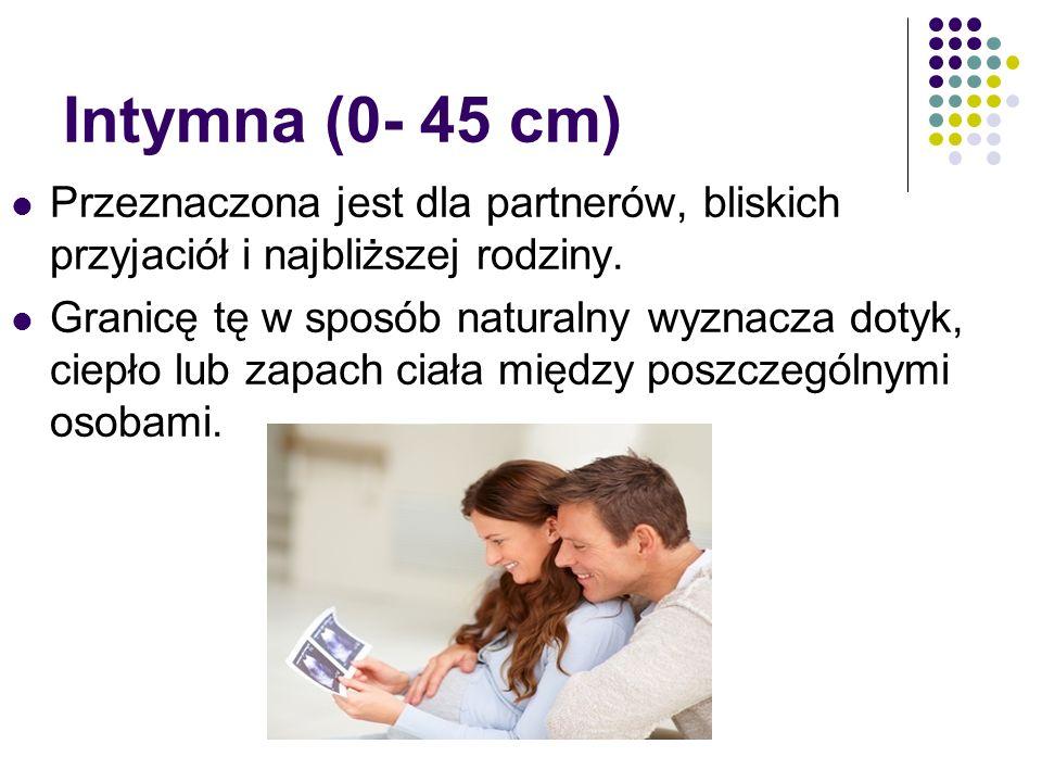 Zygmunt Korzeniewski Intymna (0- 45 cm) Przeznaczona jest dla partnerów, bliskich przyjaciół i najbliższej rodziny. Granicę tę w sposób naturalny wyzn