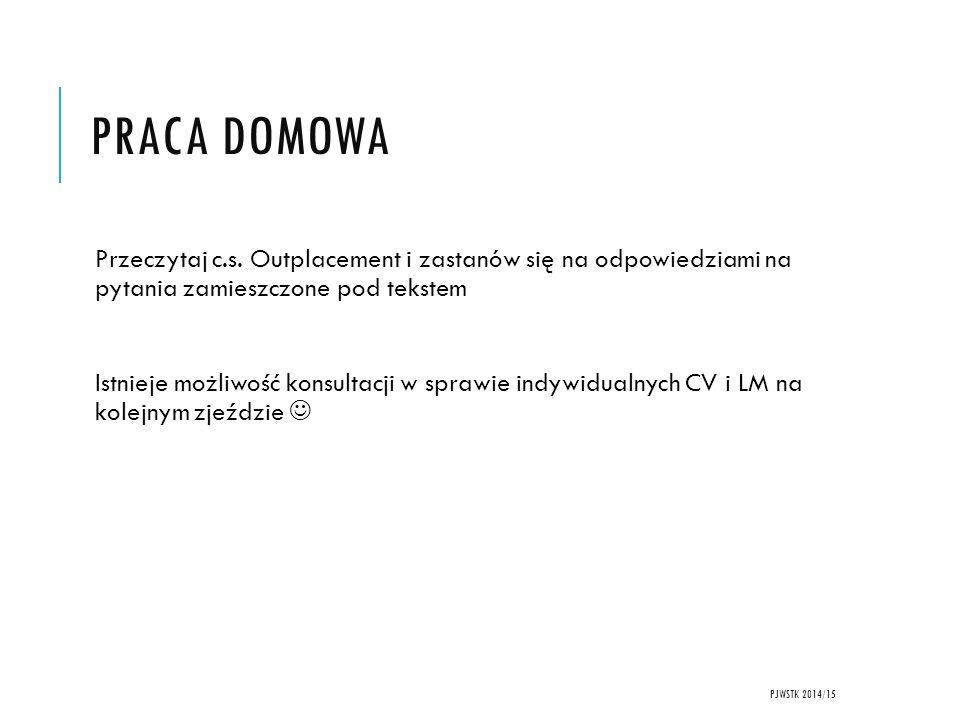 PRACA DOMOWA Przeczytaj c.s.