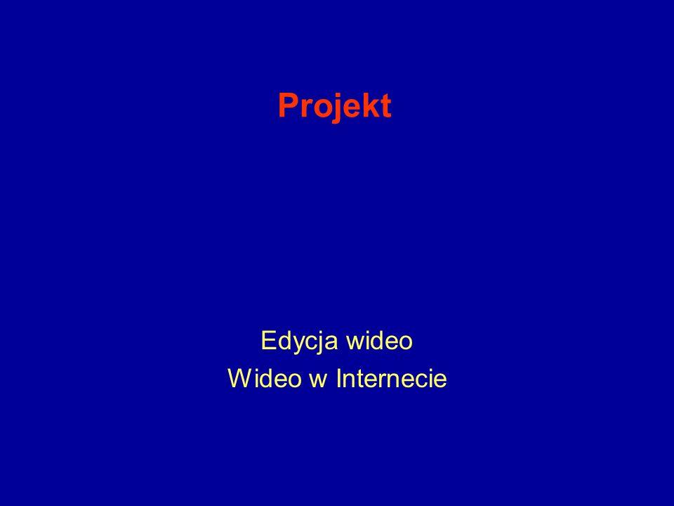 Projekt Edycja wideo Wideo w Internecie