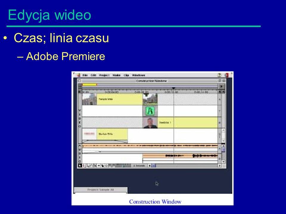 Edycja wideo Czas; linia czasu –Adobe Premiere