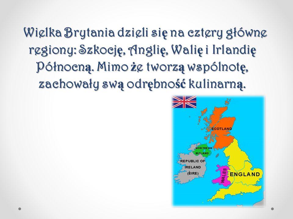 Wielka Brytania dzieli si ę na cztery główne regiony: Szkocj ę, Angli ę, Wali ę i Irlandi ę Północn ą. Mimo ż e tworz ą wspólnot ę, zachowały sw ą odr
