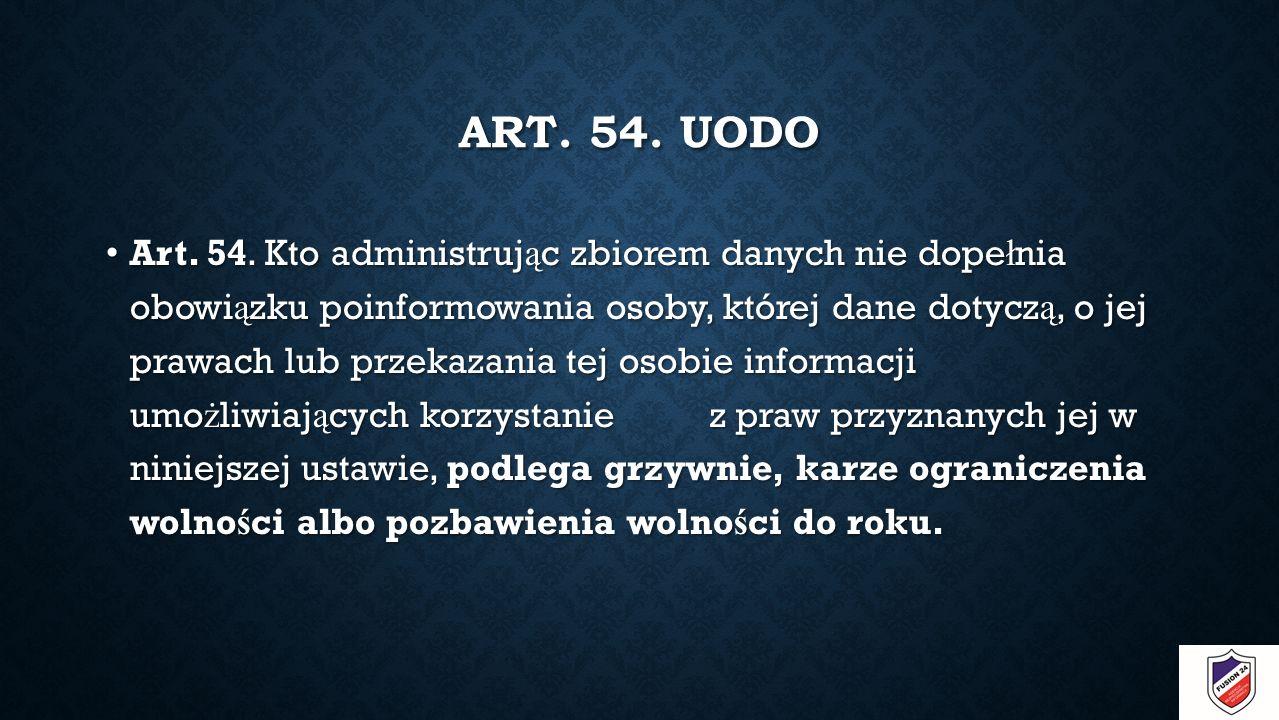 ART. 54. UODO Art. 54.