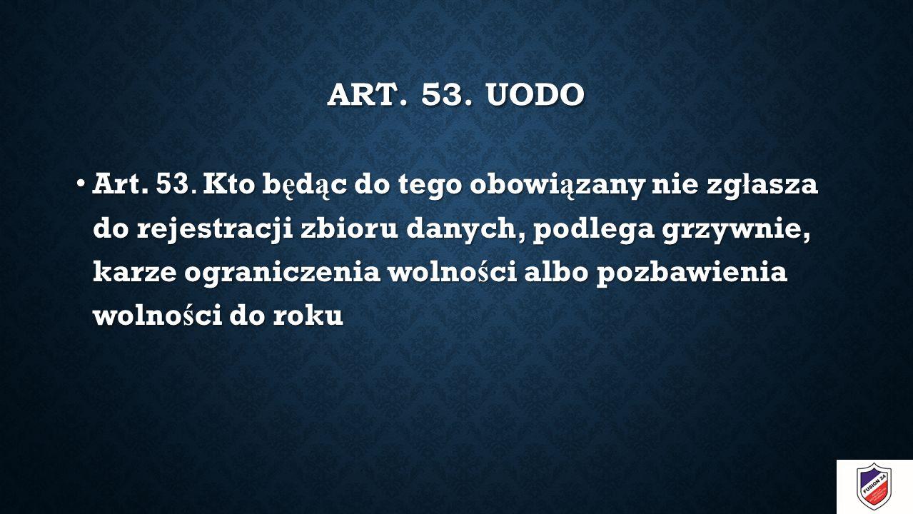 ART. 53. UODO Art. 53.