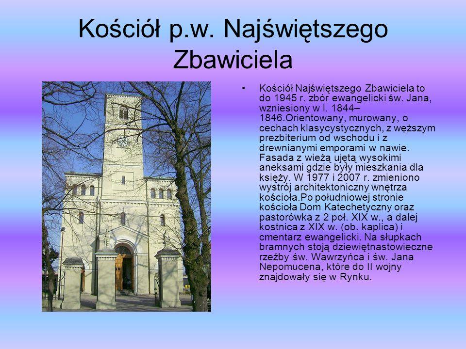 Kościół p.w. Najświętszego Zbawiciela Kościół Najświętszego Zbawiciela to do 1945 r.