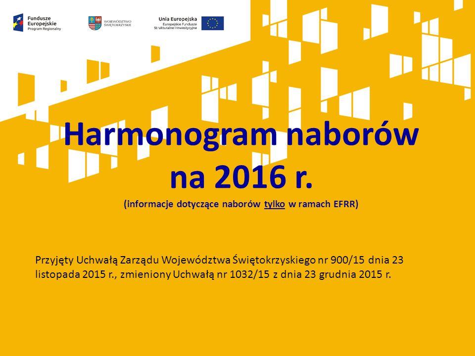 Harmonogram naborów na 2016 r.