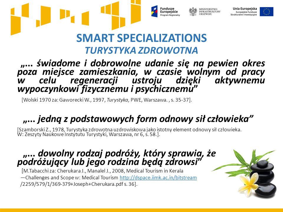 """SMART SPECIALIZATIONS TURYSTYKA ZDROWOTNA """"..."""