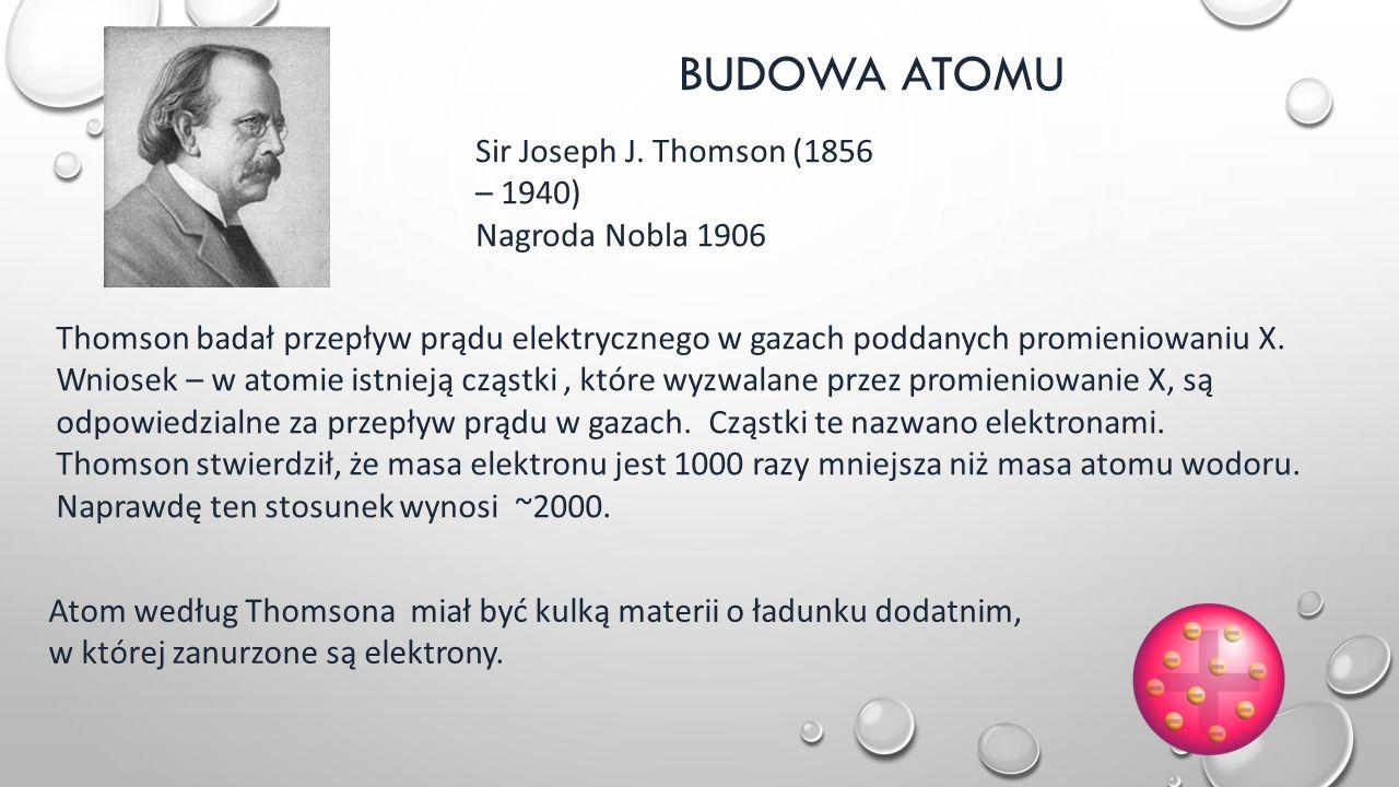 BUDOWA ATOMU Sir Joseph J.