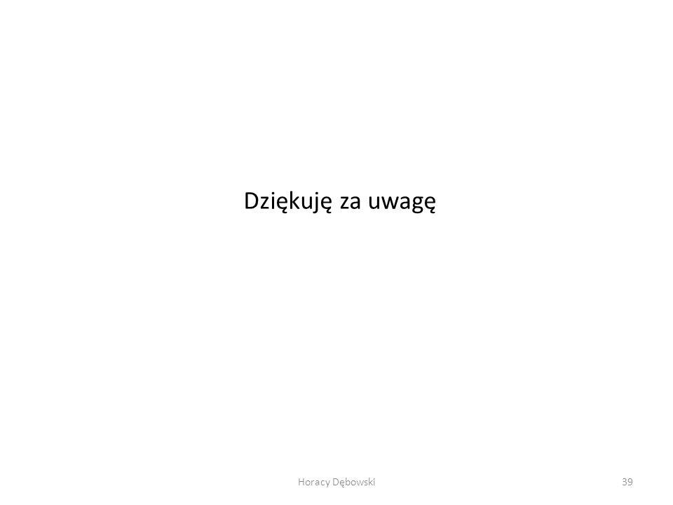 Dziękuję za uwagę Horacy Dębowski39