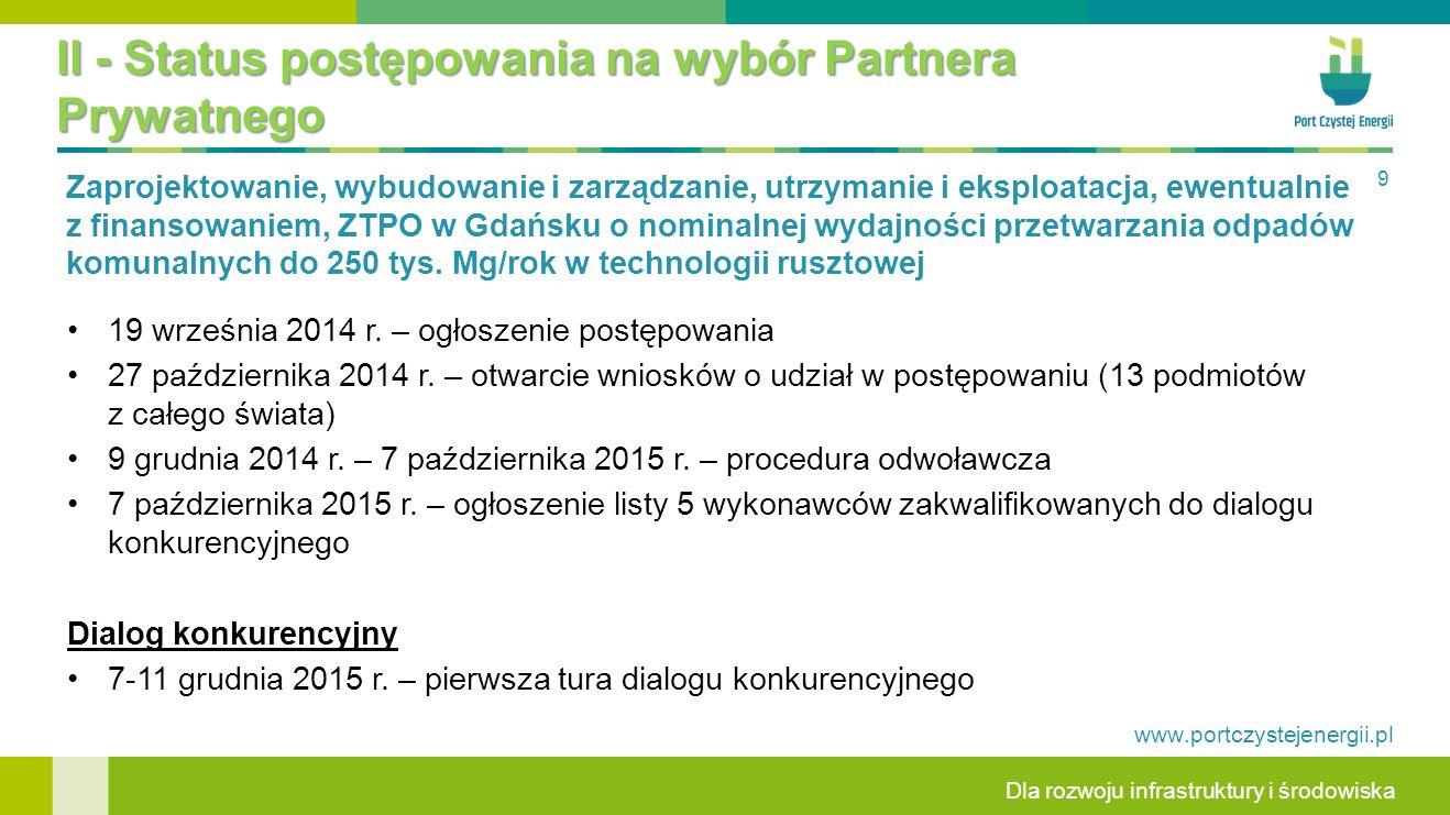 Dla rozwoju infrastruktury i środowiska www.portczystejenergii.pl Dalveo Poznań Sp.