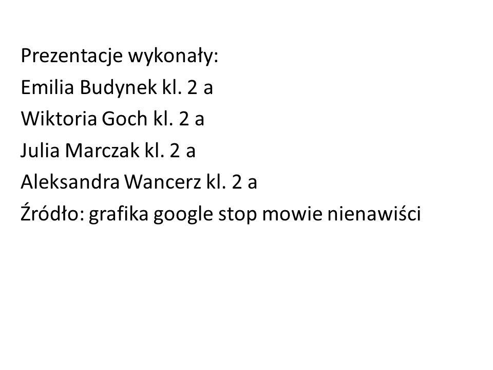 Prezentacje wykonały: Emilia Budynek kl. 2 a Wiktoria Goch kl. 2 a Julia Marczak kl. 2 a Aleksandra Wancerz kl. 2 a Źródło: grafika google stop mowie