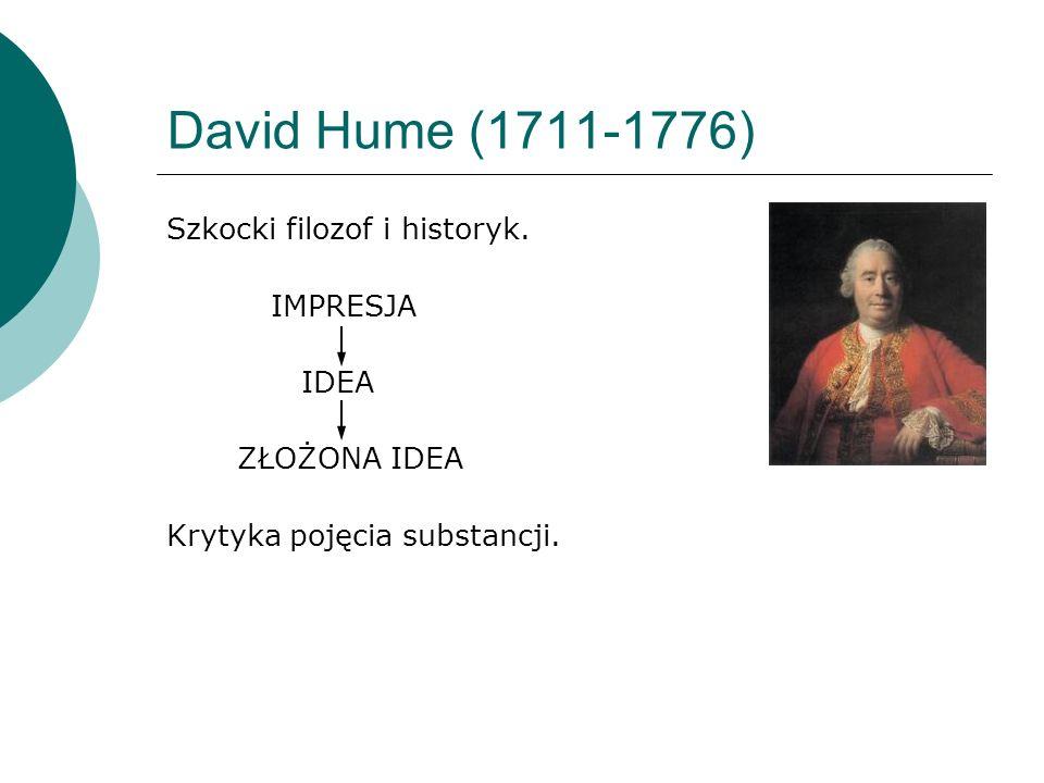 David Hume (1711-1776) Szkocki filozof i historyk.