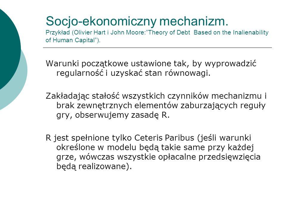 Socjo-ekonomiczny mechanizm.