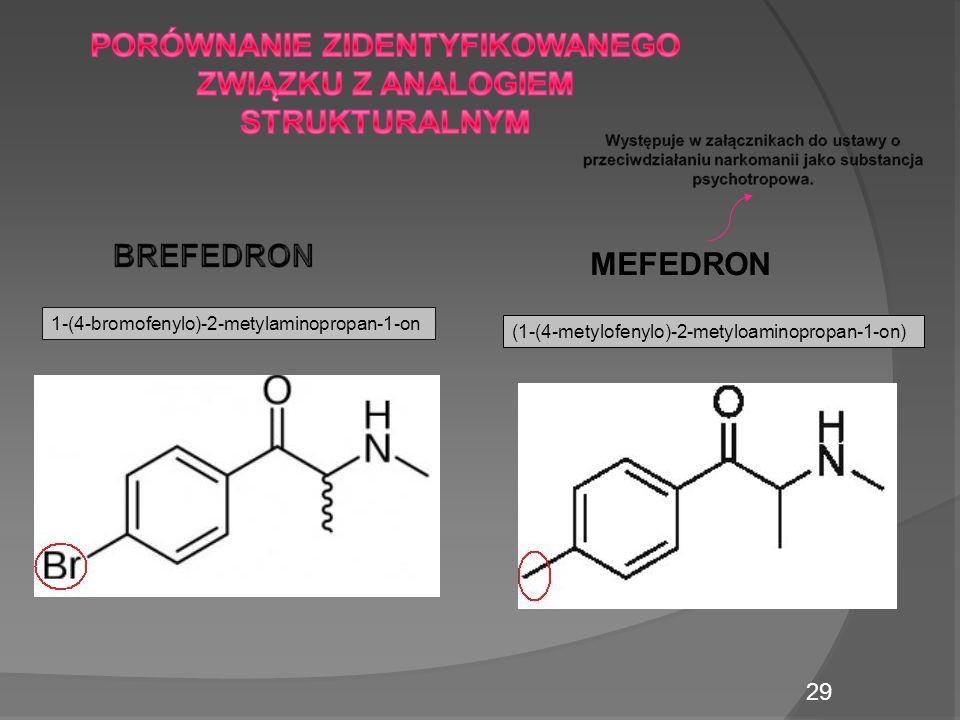 MEFEDRON 1-(4-bromofenylo)-2-metylaminopropan-1-on (1-(4-metylofenylo)-2-metyloaminopropan-1-on) 29