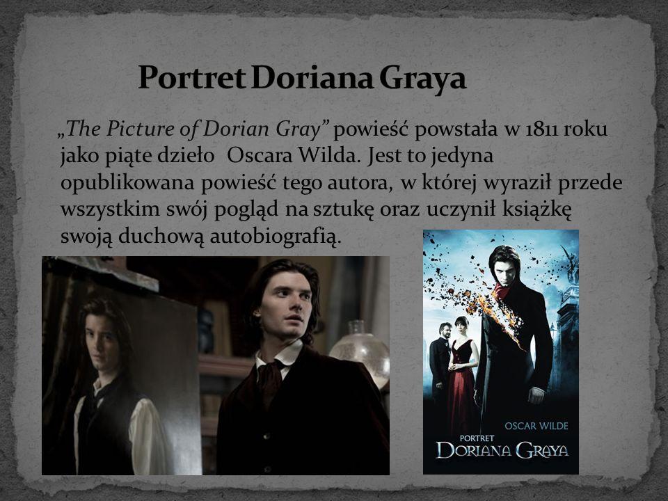"""""""The Picture of Dorian Gray"""" powieść powstała w 1811 roku jako piąte dzieło Oscara Wilda. Jest to jedyna opublikowana powieść tego autora, w której wy"""
