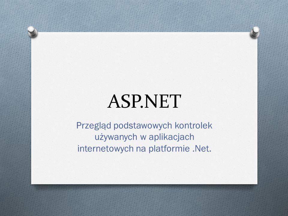 ASP.NET O Podstawowy składnik.NET Framework O Technologia tworzenia w pełni dynamicznych stron internetowych działających po stronie serwera O Zorientowanie na komponenty – podobnie jak w programowaniu aplikacji Windows O Duża ilość kontrolek i bibliotek klas umożliwia szybkie tworzenie aplikacji