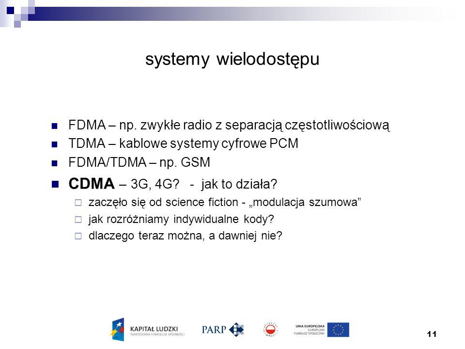 11 systemy wielodostępu FDMA – np.