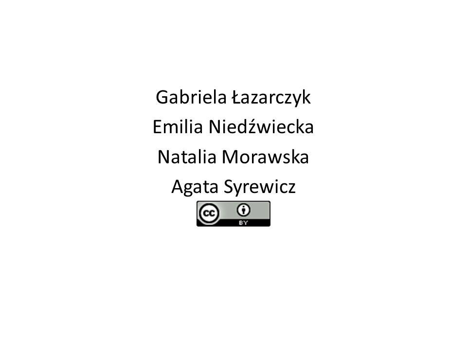 Gabriela Łazarczyk Emilia Niedźwiecka Natalia Morawska Agata Syrewicz