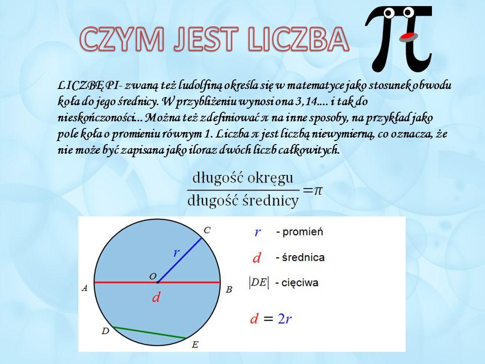 π nie przestaje fascynować, i wciąż daje do myślenia – jak to możliwe, że liczba, oznaczająca coś tak prostego jak stosunek długości obwodu koła do długości jego średnicy może być tak skomplikowana.
