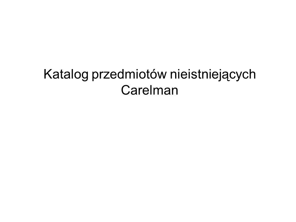 Katalog przedmiotów nieistniejących Carelman