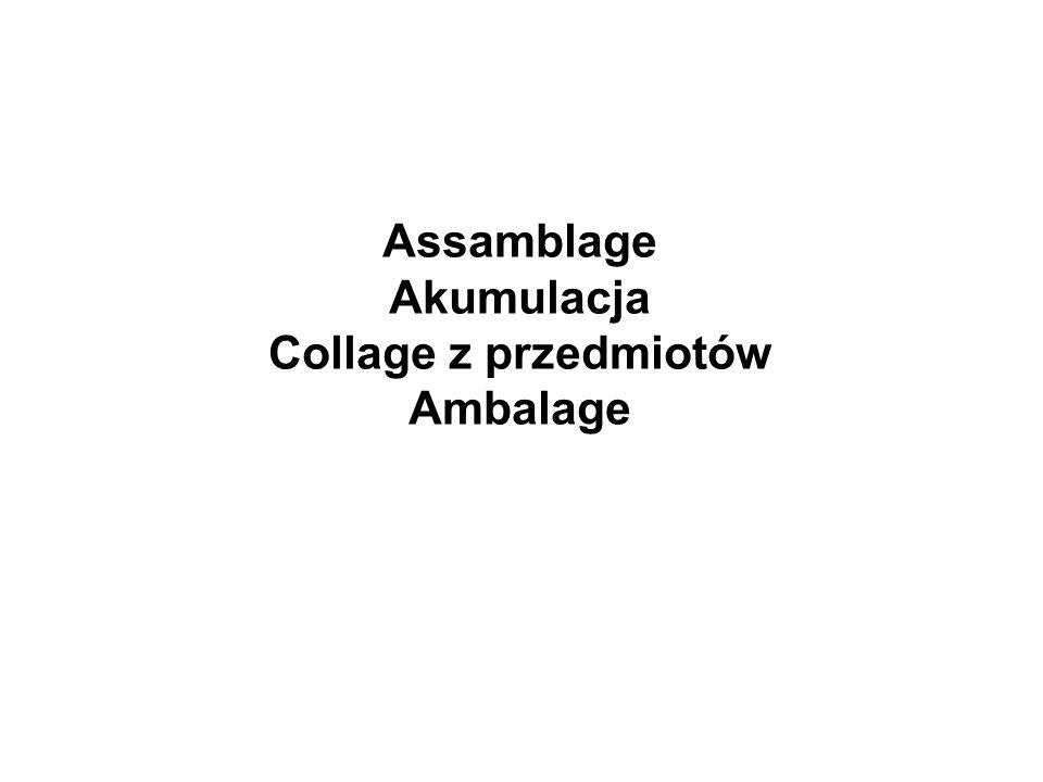 Assamblage Akumulacja Collage z przedmiotów Ambalage