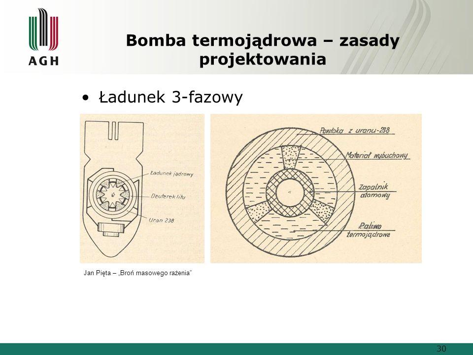 """Bomba termojądrowa – zasady projektowania Ładunek 3-fazowy Jan Pięta – """"Broń masowego rażenia 30"""