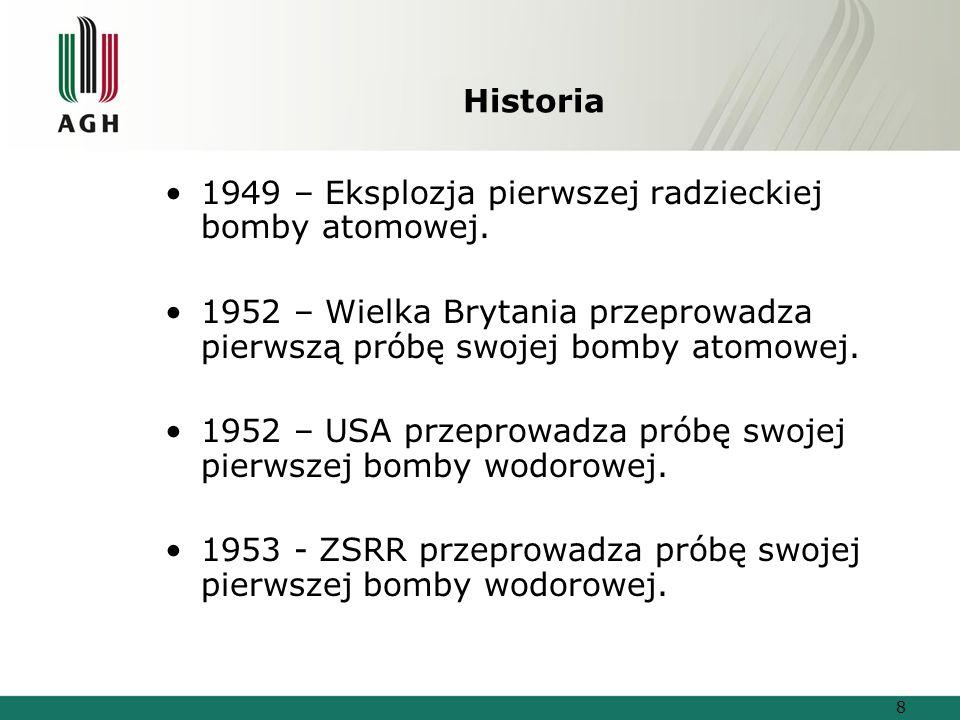 Historia 1949 – Eksplozja pierwszej radzieckiej bomby atomowej.