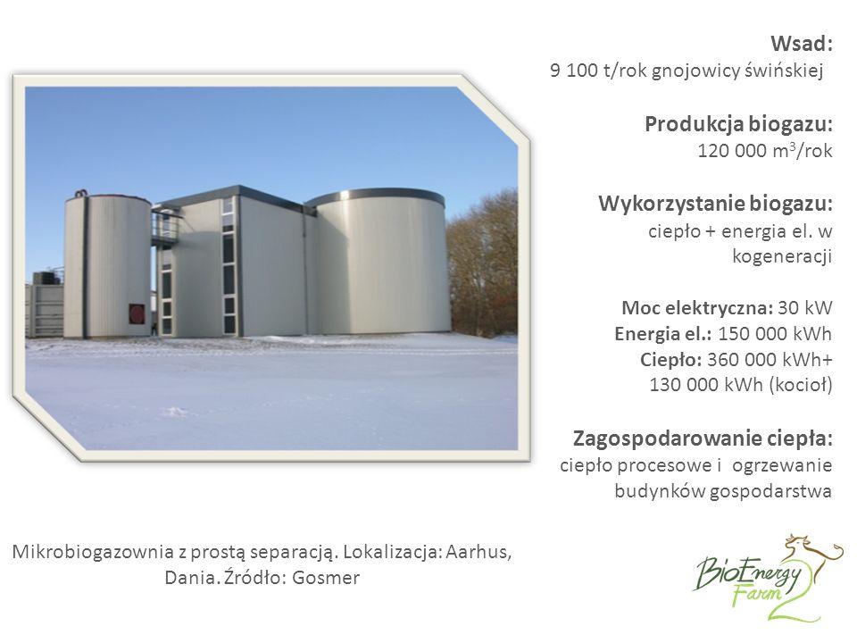 Mikrobiogazownia z prostą separacją. Lokalizacja: Aarhus, Dania.