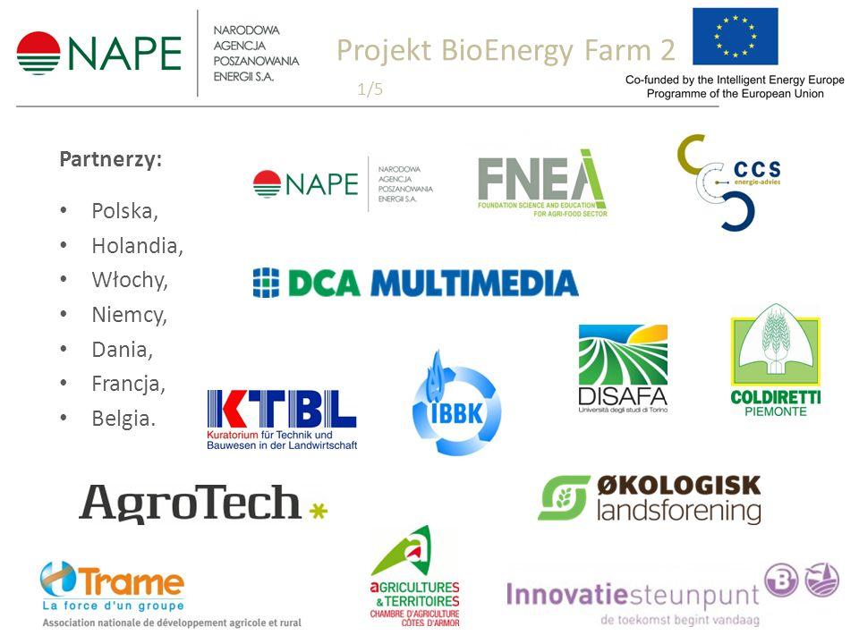 Partnerzy: Polska, Holandia, Włochy, Niemcy, Dania, Francja, Belgia. Projekt BioEnergy Farm 2 1/5