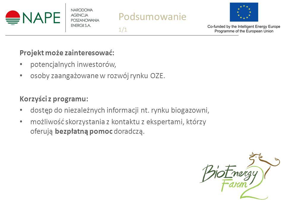 Projekt może zainteresować: potencjalnych inwestorów, osoby zaangażowane w rozwój rynku OZE.