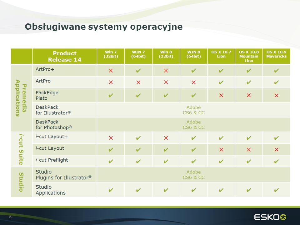 6 Obsługiwane systemy operacyjne