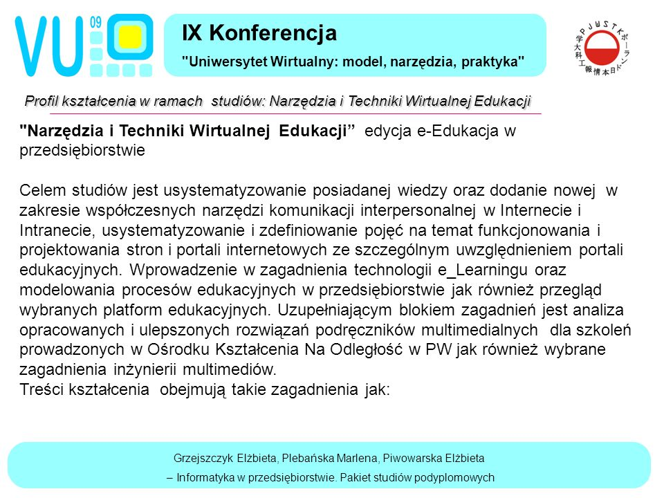 Grzejszczyk Elżbieta, Plebańska Marlena, Piwowarska Elżbieta – Informatyka w przedsiębiorstwie.