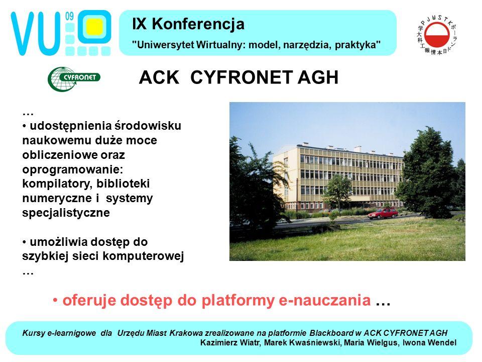 ACK CYFRONET AGH IX Konferencja