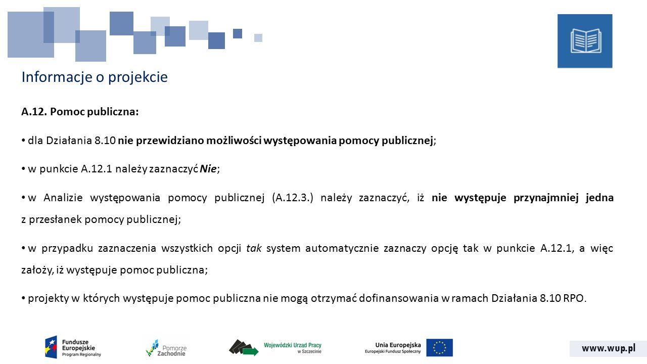 www.wup.pl Informacje o projekcie A.12.