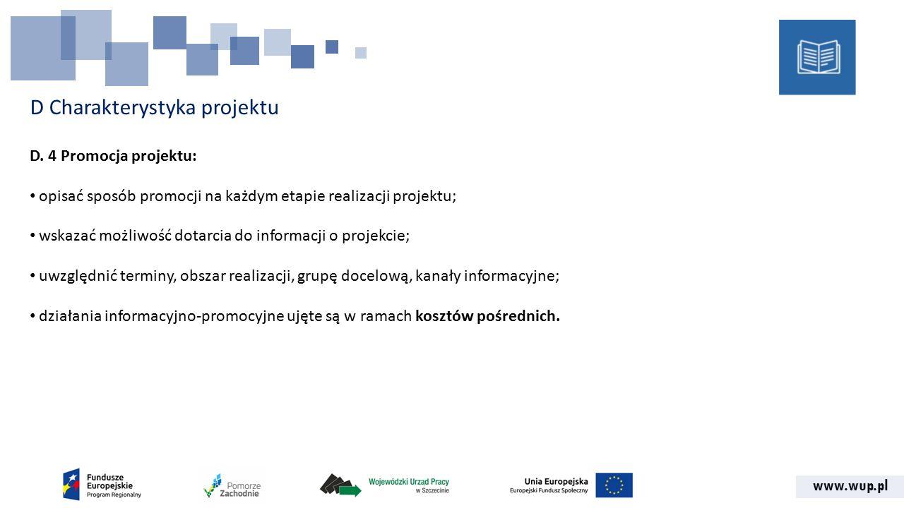 www.wup.pl D Charakterystyka projektu D.