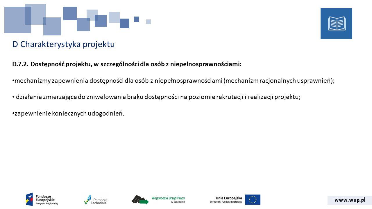 www.wup.pl D Charakterystyka projektu D.7.2.