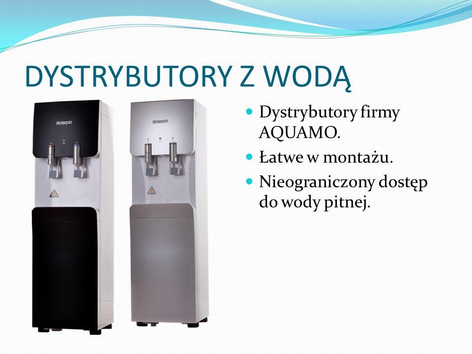 DYSTRYBUTORY Z WODĄ Woda pochodzi ze szkolnej instalacji, jednakże jest ona filtrowana w czterech etapach: 1 etap: eliminacja kamieni, metali, głównych zanieczyszczeń.