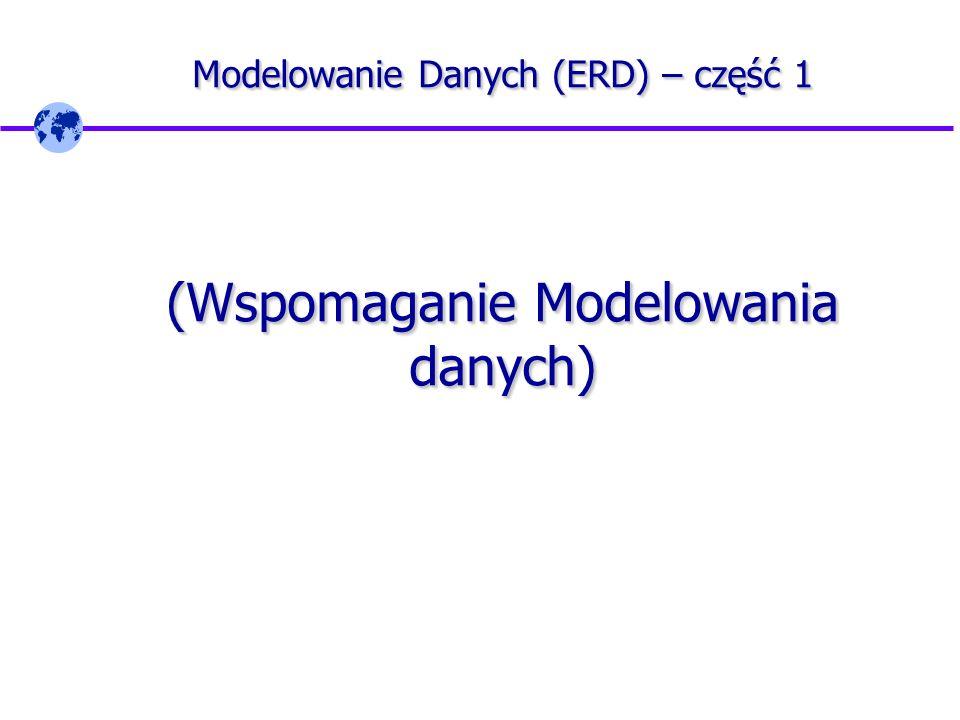 Modelowanie Danych (ERD) – część 1 na podstawie materiałów ORACLE