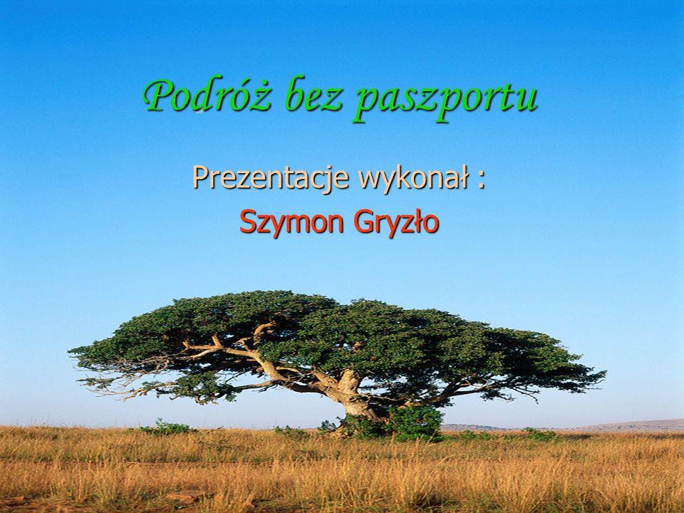 Podróż bez paszportu Prezentacje wykonał : Szymon Gryzło