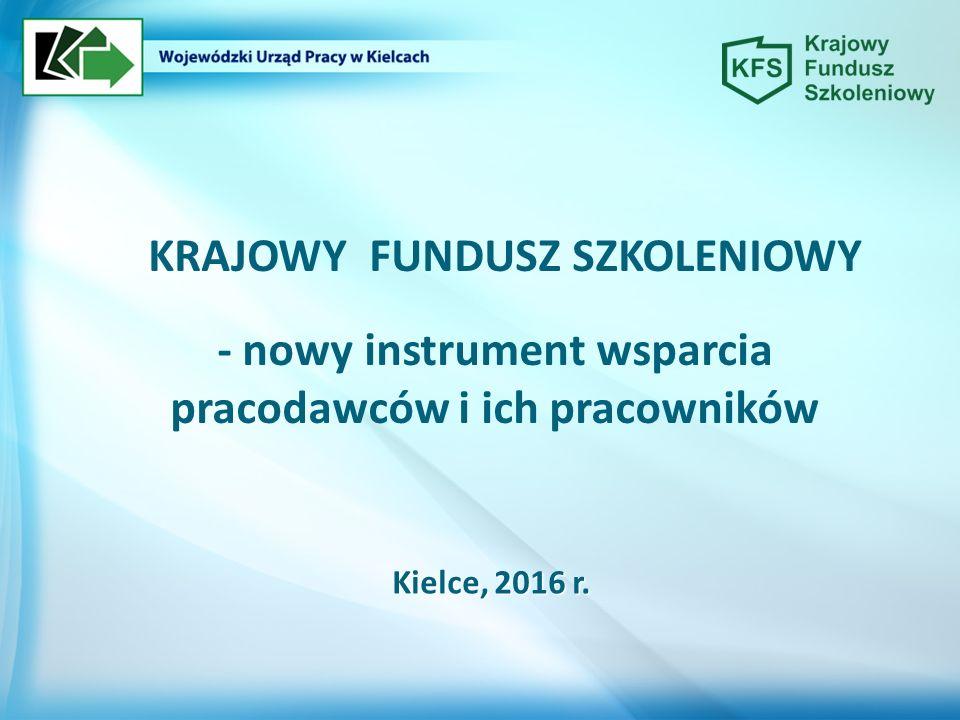 - nowy instrument wsparcia pracodawców i ich pracowników Kielce, 2016 r.