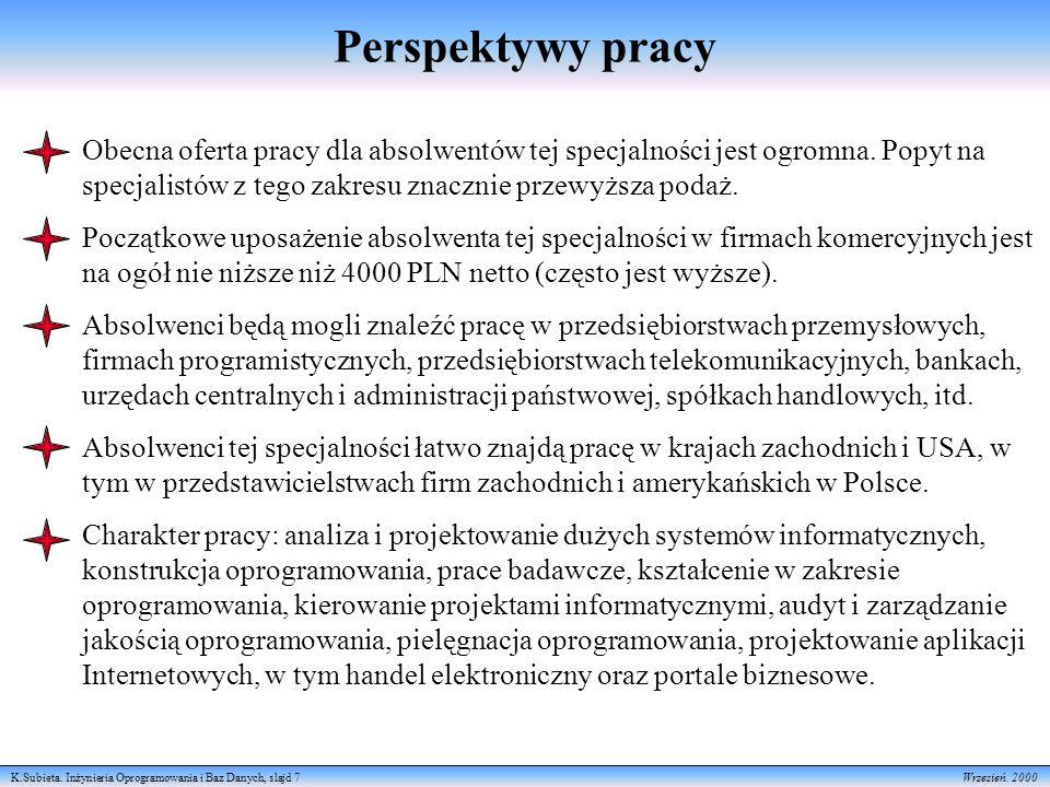 K.Subieta. Inżynieria Oprogramowania i Baz Danych, slajd 7 Wrzesień.